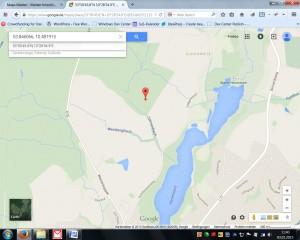 Position des Hünengrabs (GPB: 53.846066, 10.481915) - hier ist auch ein Geocach versteckt!
