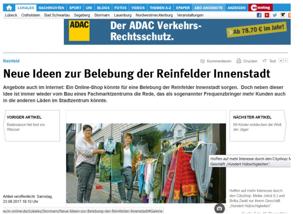 Die Innenstadt Mit Online Shop Mehr Beleben Reinfeld Aktiv
